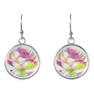 Boucles D'oreilles Boucles d'oreille roses d'aquarelle