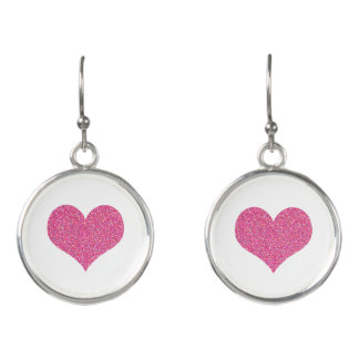 Boucles D'oreilles Coeurs roses mignons Girly