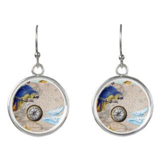 Boucles D'oreilles Collage bleu tropical