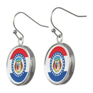 Boucles D'oreilles Conception de drapeau du MISSOURI -