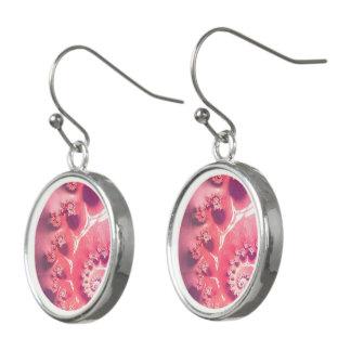 Boucles D'oreilles Crème glacée rose pour 21 saveurs de Fibonacci