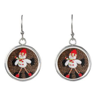 Boucles D'oreilles Décoration de bonhomme de neige de Noël