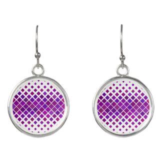 Boucles D'oreilles Diamants violets