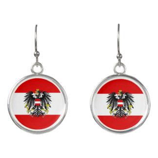 Boucles D'oreilles Drapeau autrichien