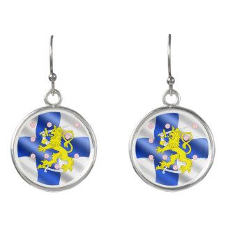 Boucles D'oreilles Drapeau finlandais