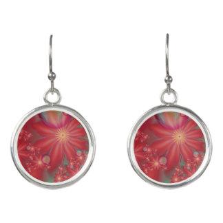 Boucles D'oreilles Floral rouge surréaliste