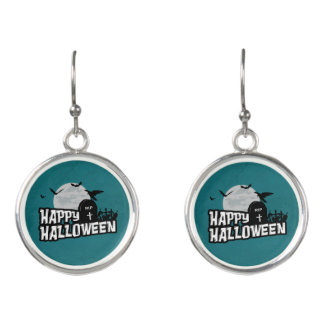 Boucles D'oreilles Halloween heureux