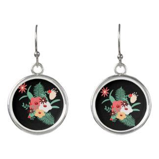 Boucles D'oreilles impression florale classique