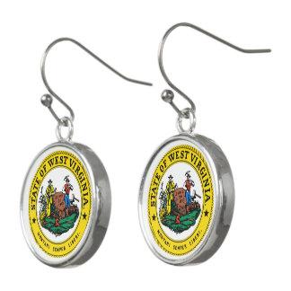 Boucles D'oreilles Joint d'état de la Virginie Occidentale -