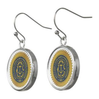 Boucles D'oreilles Joint d'état d'Île de Rhode -