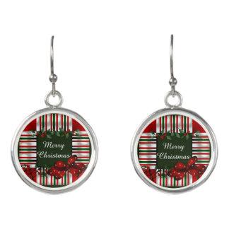 Boucles D'oreilles Joyeux Noël personnalisé