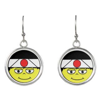 Boucles D'oreilles Le Japon font face