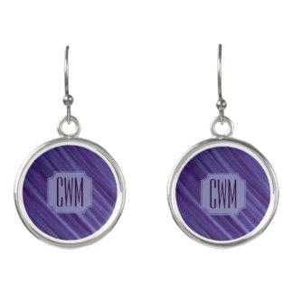 Boucles D'oreilles Lilas violet pourpre de monogramme indifférent de