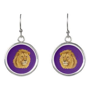 boucle d'oreille lionne