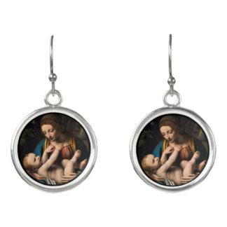 Boucles D'oreilles Med Kristusbarnet de Madonna