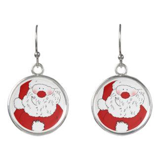 Boucles D'oreilles Père Noël de rougissement mignon