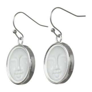 Boucles D'oreilles Porcelaine de déesse de lune