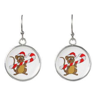 Boucles D'oreilles Souris avec du sucre de canne de Noël