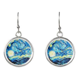 Boucles D'oreilles Van Gogh - nuit étoilée