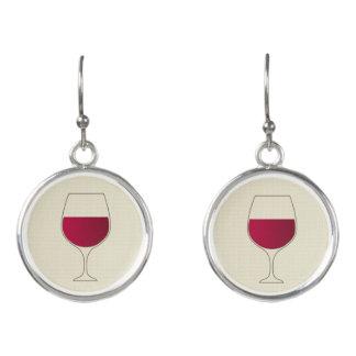Boucles D'oreilles Verre de vin rouge