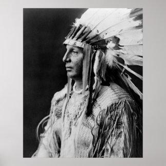 Bouclier blanc - Indien d'Amerique indigène d'Arik Affiches