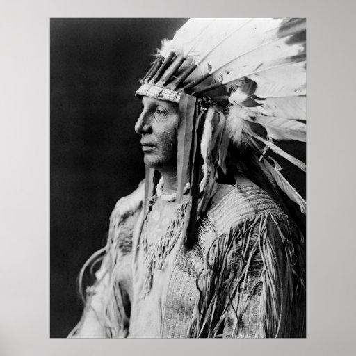 Bouclier blanc - Indien d'Amerique indigène d'Arik Posters