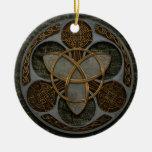 Bouclier celtique de trinité décorations pour sapins de noël