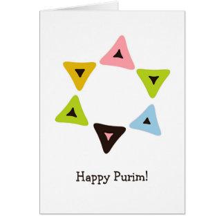 Bouclier de carte de Hamantaschen Purim