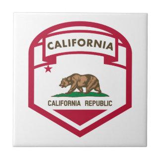Bouclier de drapeau d'état de la Californie Petit Carreau Carré