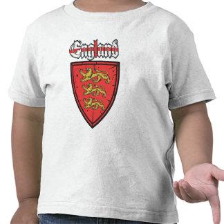 Bouclier de lions de l'Angleterre trois T-shirt