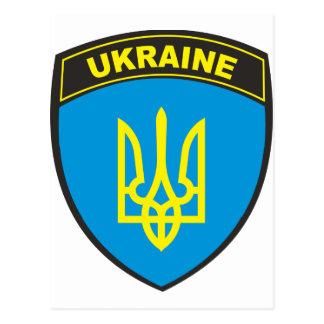 Bouclier de l'Ukraine Carte Postale