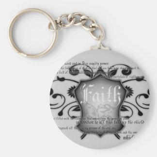 Bouclier de porte - clé chrétien de la foi (armure porte-clé rond
