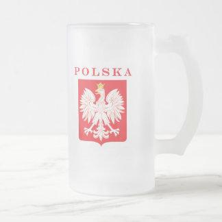 Bouclier de rouge de Polska Eagle Chope Givrée