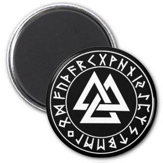 bouclier de Rune de Tri Triangle d'aimant sur le n Magnet Rond 8 Cm