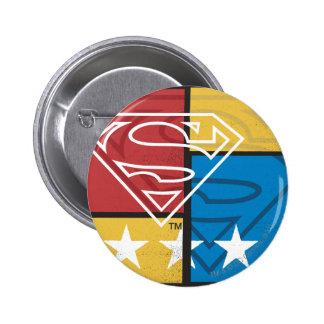 Bouclier de Superman avec des étoiles Badge Rond 5 Cm