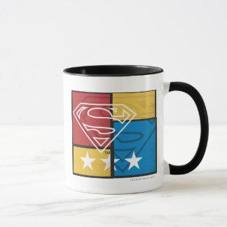 Bouclier de Superman avec des étoiles Tasse