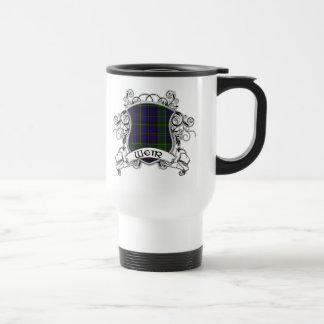 Bouclier de tartan de déversoir mug de voyage