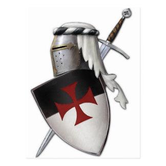 Bouclier de Templar de chevaliers Cartes Postales