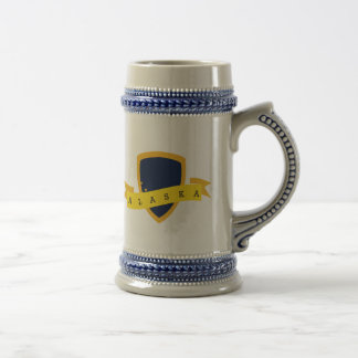 Bouclier d'or de l'Alaska Chope À Bière