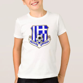 Bouclier du football de la Grèce - l'Hellade badge T-shirt