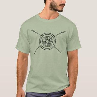 Bouclier grec avec la chemise de lances t-shirt