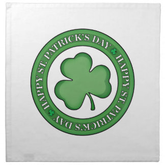 Bouclier heureux de Jour de la Saint Patrick Serviettes De Table