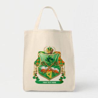 Bouclier irlandais d'histoire toute l'histoire de  sacs de toile
