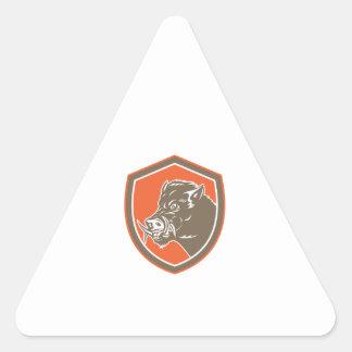 Bouclier latéral de tête de balénoptère de sticker en triangle
