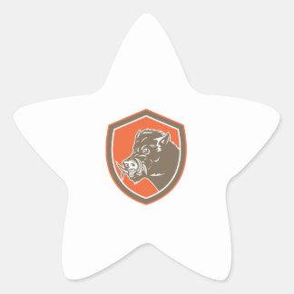 Bouclier latéral de tête de balénoptère de autocollant en étoile