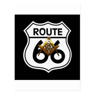 Bouclier maçonnique de l'itinéraire 66 carte postale