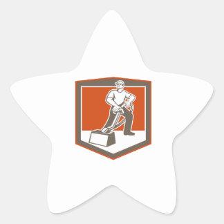 Bouclier nettoyant à l'aspirateur de décapant de sticker en étoile