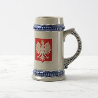 Bouclier polonais de rouge d'Eagle Chope À Bière