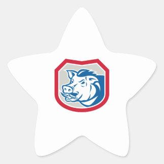 Bouclier sauvage de tête de balénoptère de porc ré stickers en étoile