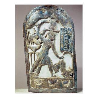 Bouclier votif dépeignant le roi massacrant a carte postale